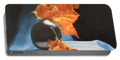 Memories Of Fall - Oil Painting Portable Battery Charger