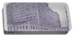 Memphis Peabody Hotel Blueprint Portable Battery Charger