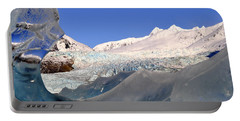 Portable Battery Charger featuring the photograph Mendenhall Glacier Refraction by Cathy Mahnke