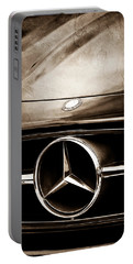 Mercedes-benz Grille Emblem Portable Battery Charger by Jill Reger