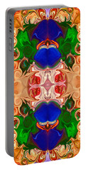 Portable Battery Charger featuring the digital art Merging Consciousness With Abstract Artwork By Omaste Witkowski  by Omaste Witkowski