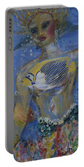 Portable Battery Charger featuring the painting Mermaid by Avonelle Kelsey