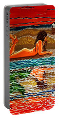 Mermaid Day Dreaming  Portable Battery Charger by Jackie Carpenter