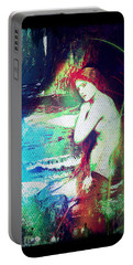 Mermaid Of The Tides Portable Battery Charger by Absinthe Art By Michelle LeAnn Scott