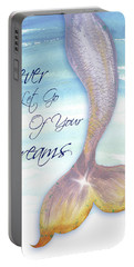 Mermaid Tail II (never Let Go Of Dreams) Portable Battery Charger