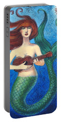 Mermaid Ukulele Angels Portable Battery Charger by Sue Halstenberg