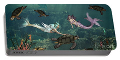 Mermaids At Turtle Springs Portable Battery Charger
