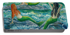 Mermaids On The Rocks Portable Battery Charger