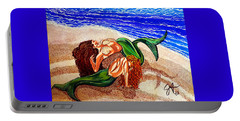 Portable Battery Charger featuring the painting Mermaids Spent Jackie Carpenter by Jackie Carpenter