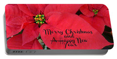 Christmas Poinsettia Portable Battery Charger by William Tanneberger