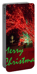 Merry Christmas Portable Battery Charger by Darren Robinson
