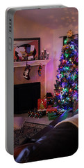 Portable Battery Charger featuring the photograph Merry Christmas From My Home To Yours by Trish Mistric