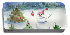 Merry Christmas Portable Battery Charger by Katherine Miller