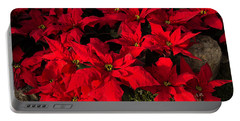 Merry Scarlet Poinsettias Christmas Star Portable Battery Charger