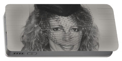 Portable Battery Charger featuring the photograph Beautiful Blue Eyed Belinda by Belinda Lee