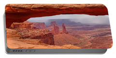 Mesa Arch In Canyonlands National Park Portable Battery Charger by Mitchell R Grosky