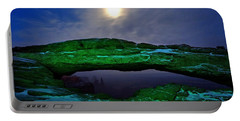 Portable Battery Charger featuring the photograph Mesa Arch In Green by David Andersen