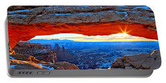 Mesa Arch Sunrise Portable Battery Charger by Adam Jewell