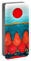 Mesa Canyon Rio Original Painting Portable Battery Charger by Sol Luckman