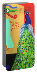 Portable Battery Charger featuring the painting Messages by Ana Maria Edulescu