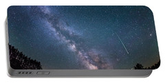 Meteor Milky Way  Portable Battery Charger by Michael Ver Sprill