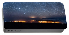 Meteor Over The Big Island Portable Battery Charger