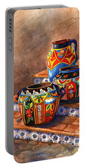 Mexican Pottery Still Life Portable Battery Charger by Marilyn Smith