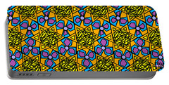 Portable Battery Charger featuring the digital art Mexican Sun / African Violet by Elizabeth McTaggart