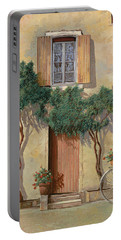 Mezza Bicicletta Sul Muro Portable Battery Charger by Guido Borelli