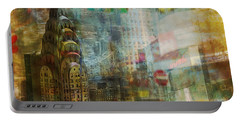 Mgl - City Collage - New York 04 Portable Battery Charger by Joost Hogervorst