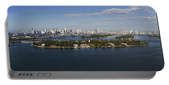 Miami And Star Island Skyline Portable Battery Charger