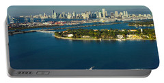 Miami City Biscayne Bay Skyline Portable Battery Charger