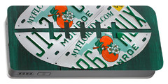 Miami Dolphins Football Recycled License Plate Art Portable Battery Charger