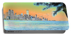 Miami Skyline Abstract II Portable Battery Charger