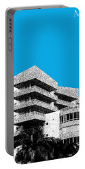 Miami Skyline Art Deco District - Ice Blue Portable Battery Charger