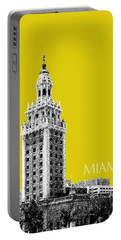 Miami Skyline Freedom Tower - Mustard Portable Battery Charger