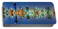 Portable Battery Charger featuring the photograph Miami Skyline Panorama by Carsten Reisinger