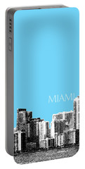 Miami Skyline - Sky Blue Portable Battery Charger