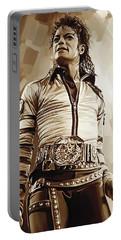 Michael Jackson Artwork 2 Portable Battery Charger by Sheraz A