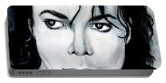 Michael Jackson Portrait Portable Battery Charger