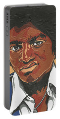 Michael Jackson Portable Battery Charger by Rachel Natalie Rawlins