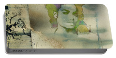Michael Jackson Silhouette Portable Battery Charger by Paulette B Wright