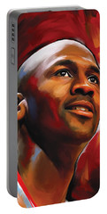 Michael Jordan Artwork 2 Portable Battery Charger