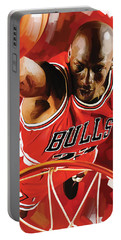 Michael Jordan Artwork 3 Portable Battery Charger