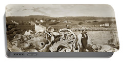 Michael Noon Sitting On A  Pile Of Whale Bones Monterey Wharf  Circa 1896 Portable Battery Charger