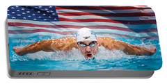 Michael Phelps Artwork Portable Battery Charger