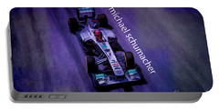 Michael Schumacher Portable Battery Charger by Marvin Spates