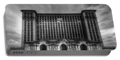 Michigan Central Station Bw Portable Battery Charger