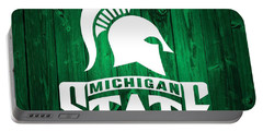 Michigan State Barn Door Portable Battery Charger by Dan Sproul