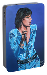 Mick Jagger Portable Battery Charger by Paul Meijering